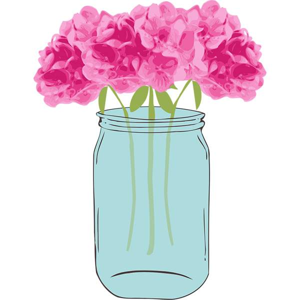 Jar clipart free mason In flowers art clip clipartcow
