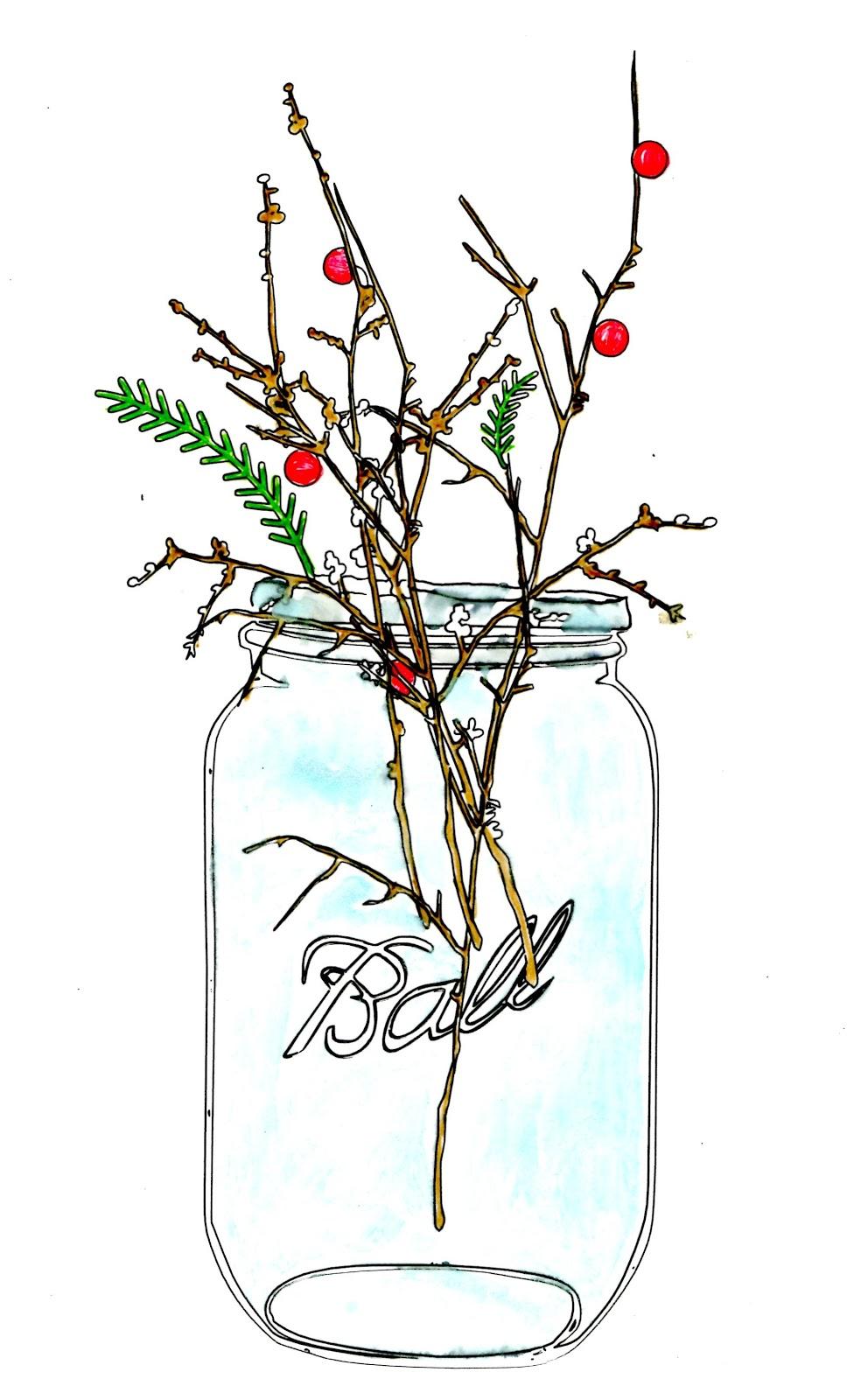 Jar clipart free mason 2 art jar vintage Jar