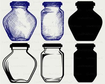 Jar clipart glass bottle Glass glass Clip jar Art