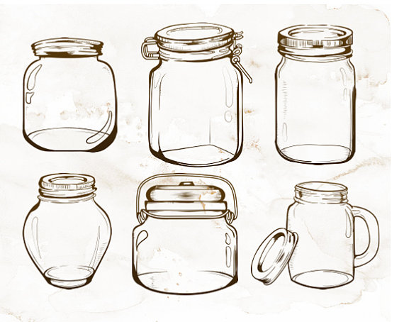 Jar clipart glass bottle This clipart is a Jars