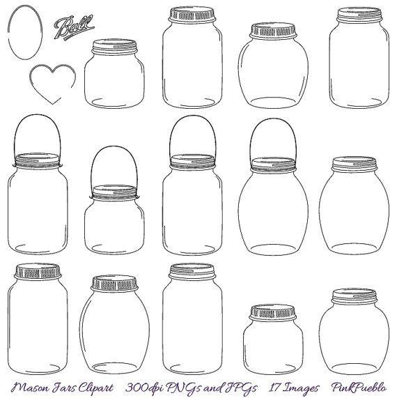Jar clipart glass bottle Mason best Jars Pinterest Clipart