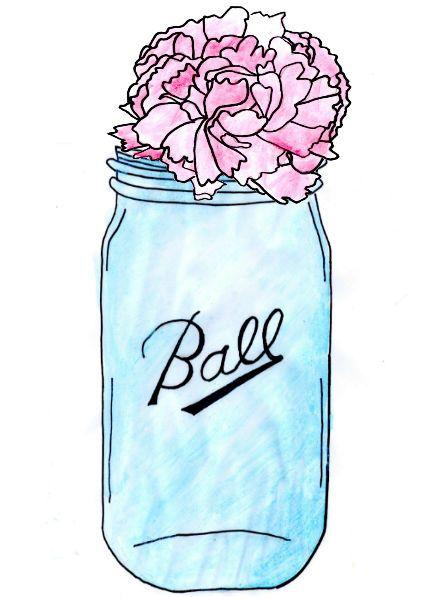 Jar clipart glass bottle Free Mason mason jar Free