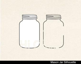 Jar clipart glass bottle Silhouette art clip Glass Hand