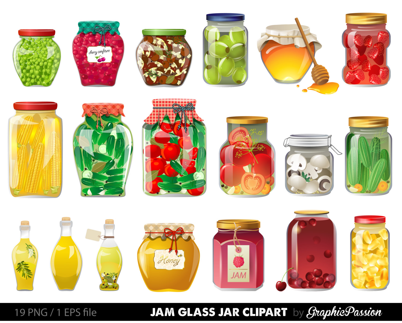 The Kitchen clipart preserves Glass Clipart Clipart Jam Jar