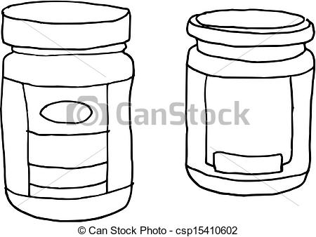 Jar clipart icon (vector) drawn Vector of of