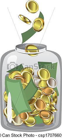 Jar clipart icon  csp17076609 Money Jar Clipart