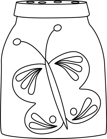 Jar clipart insect Butterfly and Butterfly in White