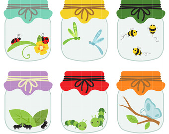 Jar clipart insect Clipart Love Digital Jars hearts