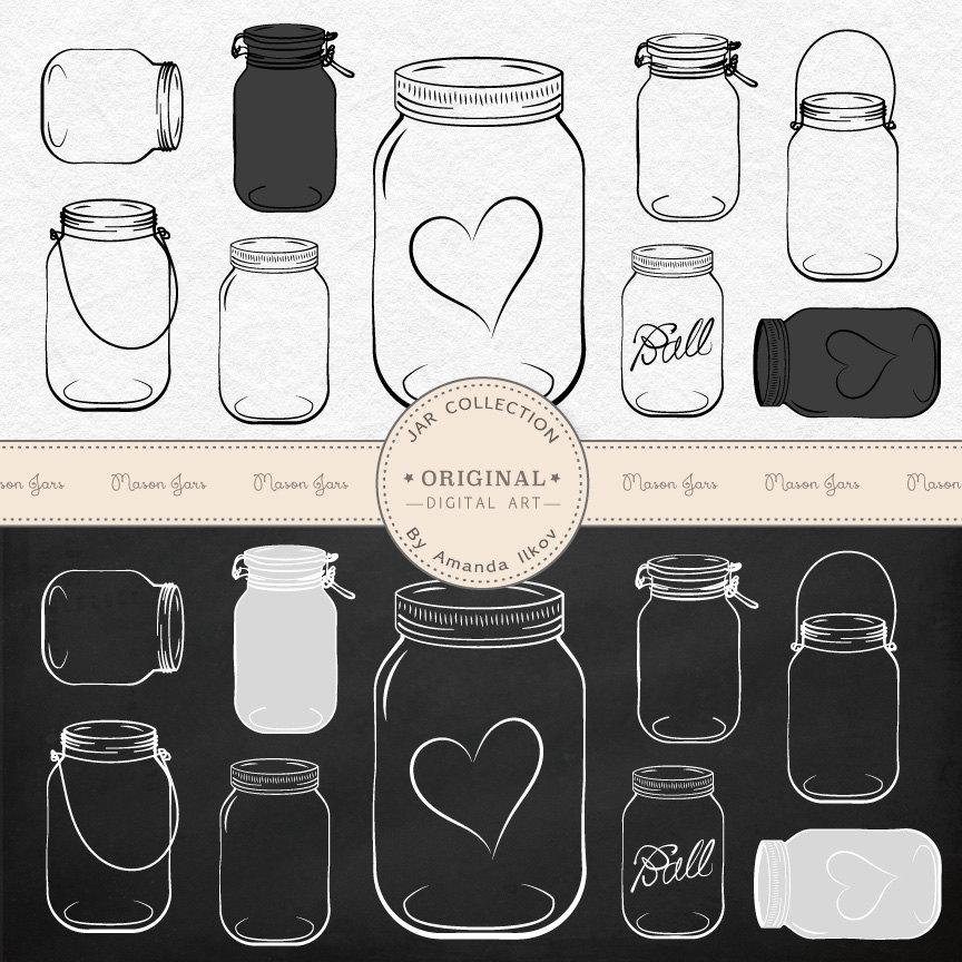 Jar clipart jam jar Chalkboard this Mason Professional Vectors