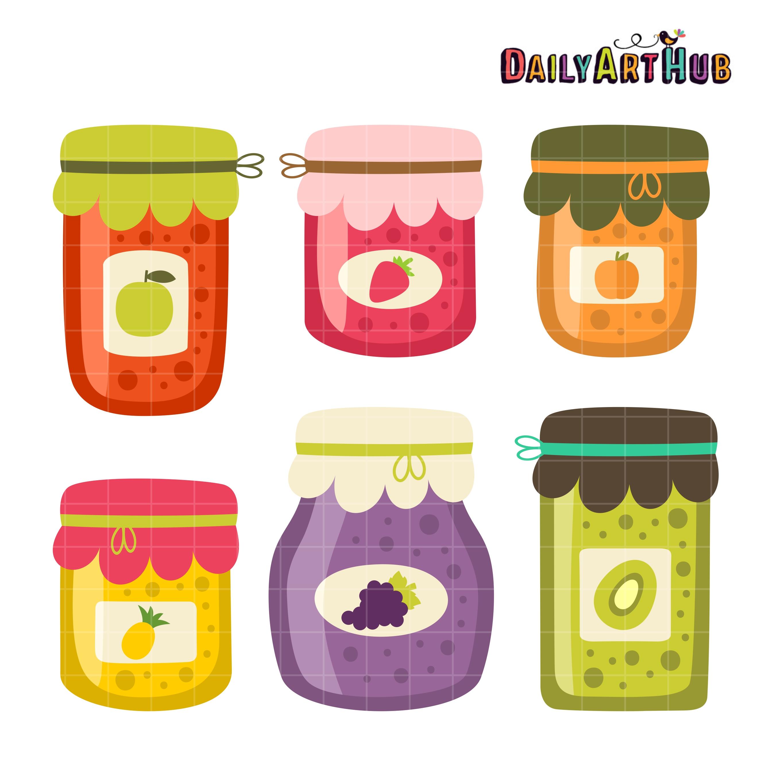 Jar clipart jam jar Art Daily Art Jam Set