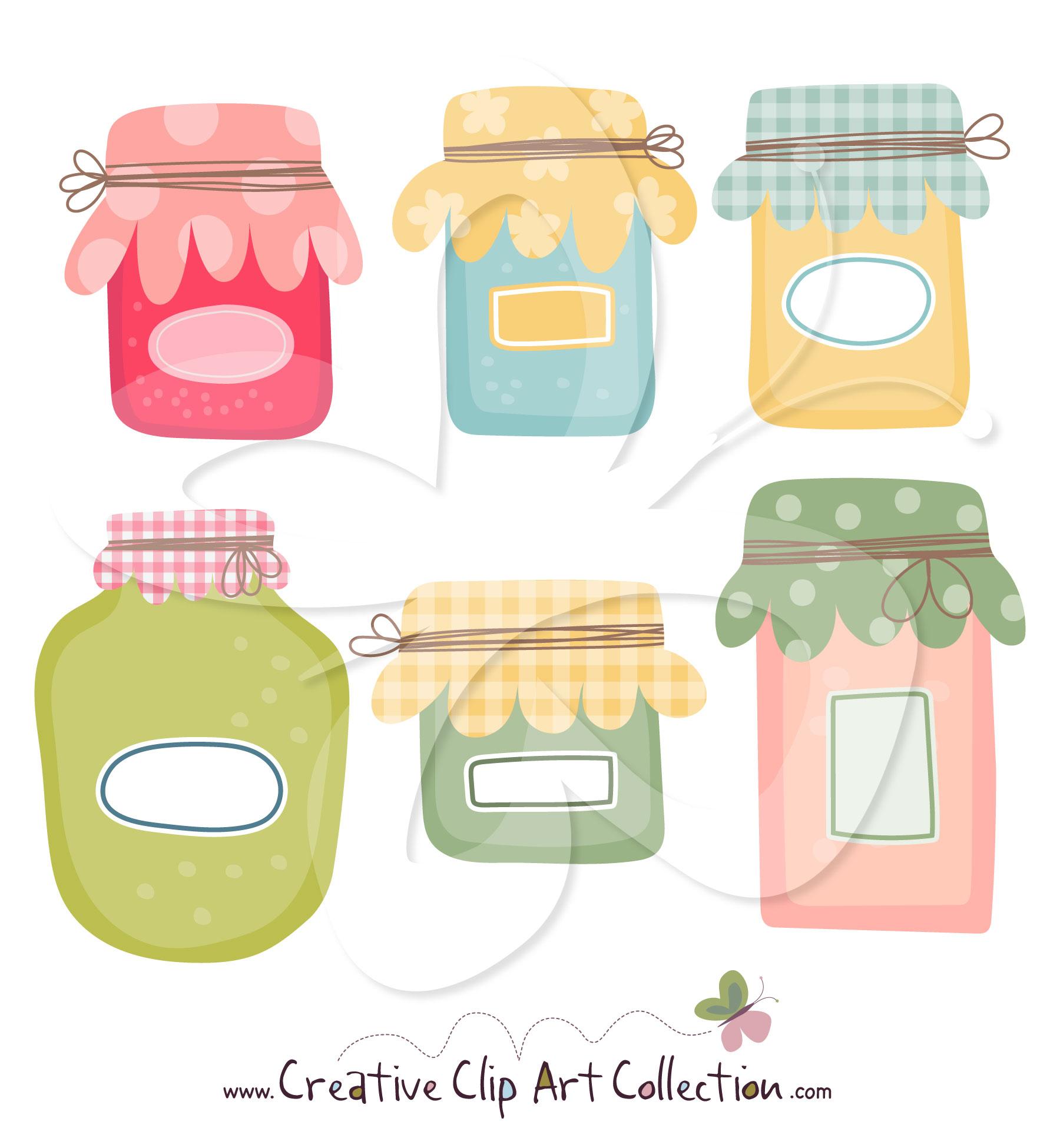 Jar clipart jam jar Jars Collection Jam art Preserving