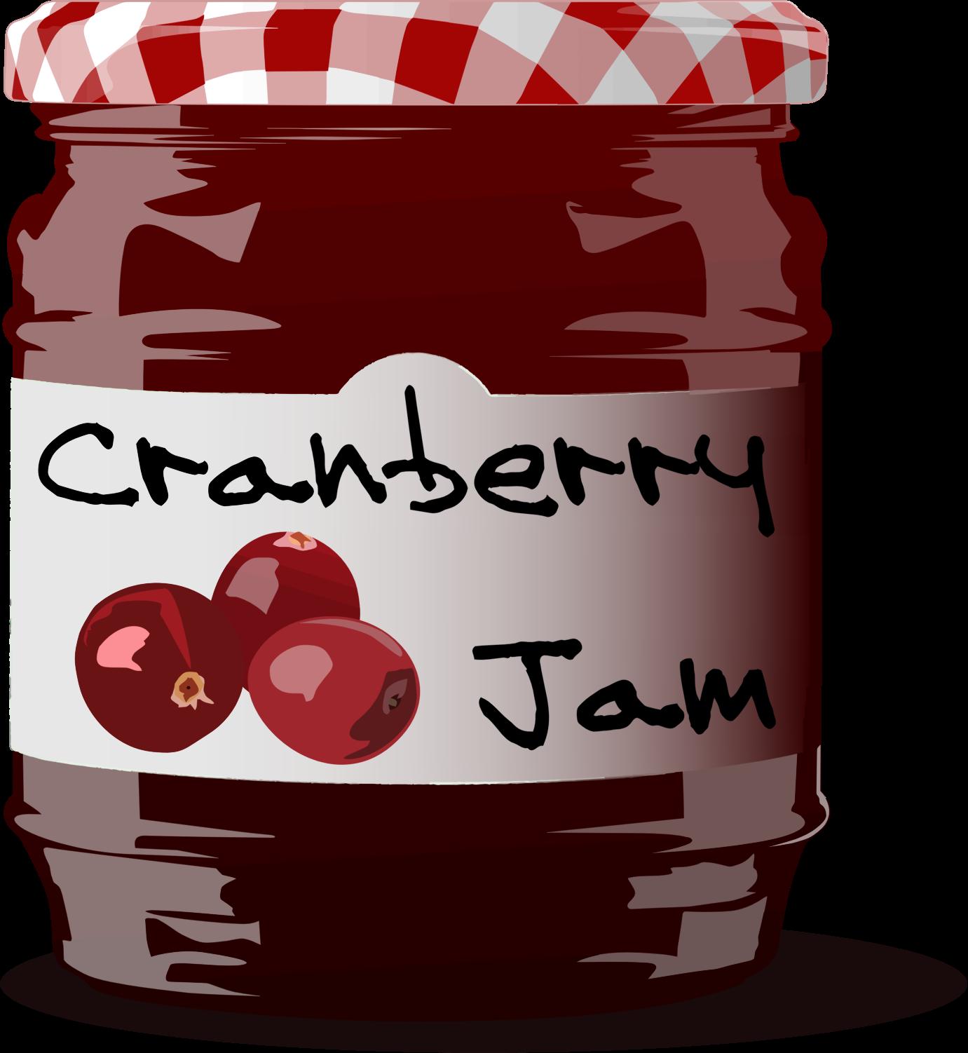 Jar clipart jam jar Cranberry Jam Jam Clipart Cranberry