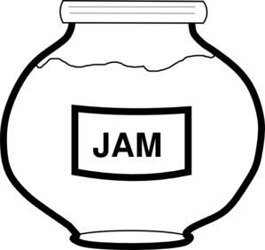 Black & White clipart jam Outline Clip clip online