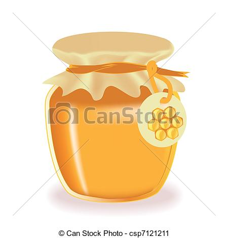 Jar clipart jar honey Honey with isolated csp7121211