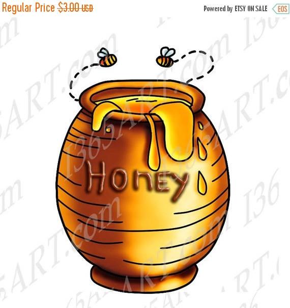 Jar clipart jar honey Clip Illustration art 50% OFF
