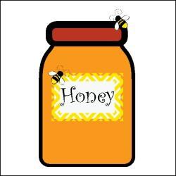 Jar clipart jar honey (png)  bees Honey jar