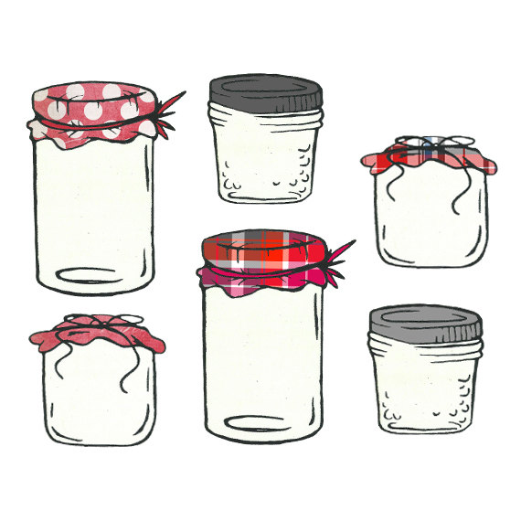 Jar clipart jelly jar Etsy Clipart and Jar Jar
