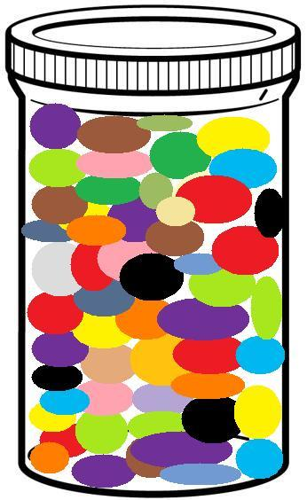 Bean clipart jelly bean jar Twirling many Read (7387574) jelly
