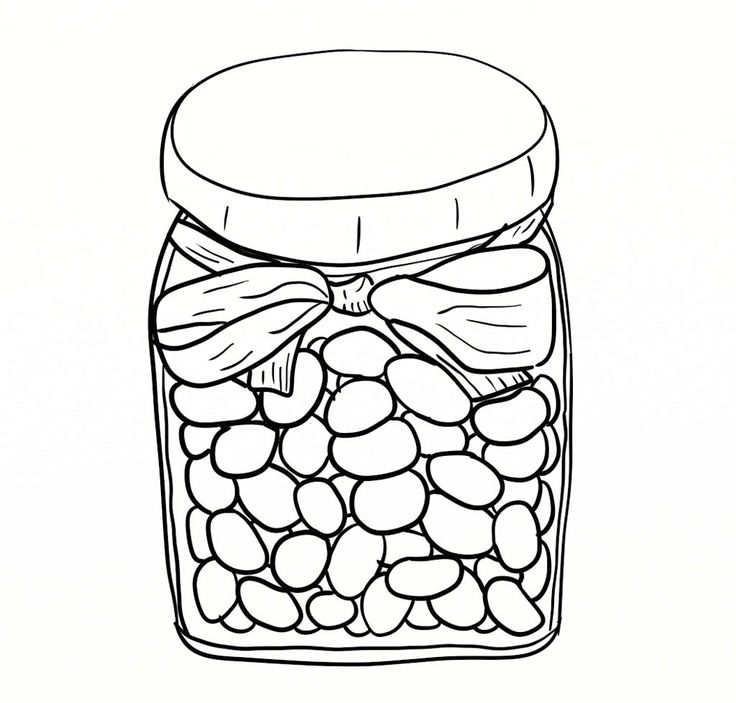 Beans clipart jelly bean jar Bean Bean Jelly Jar Coloring