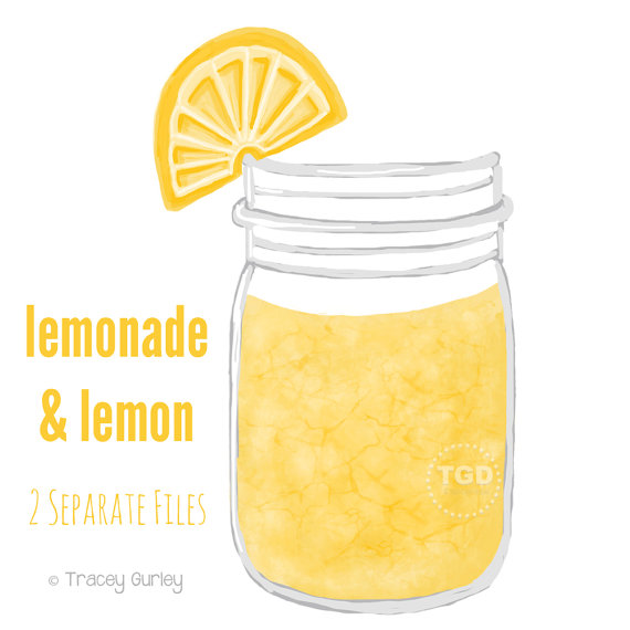 Jar clipart lemonade Mason Invitation Lemonade Art printable