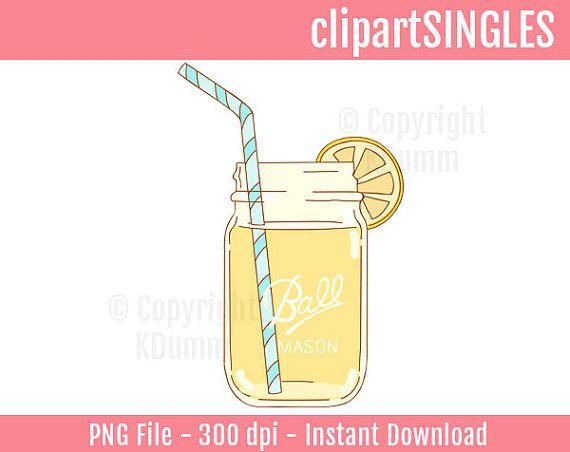 Jar clipart lemonade Drawn hand Mason All using