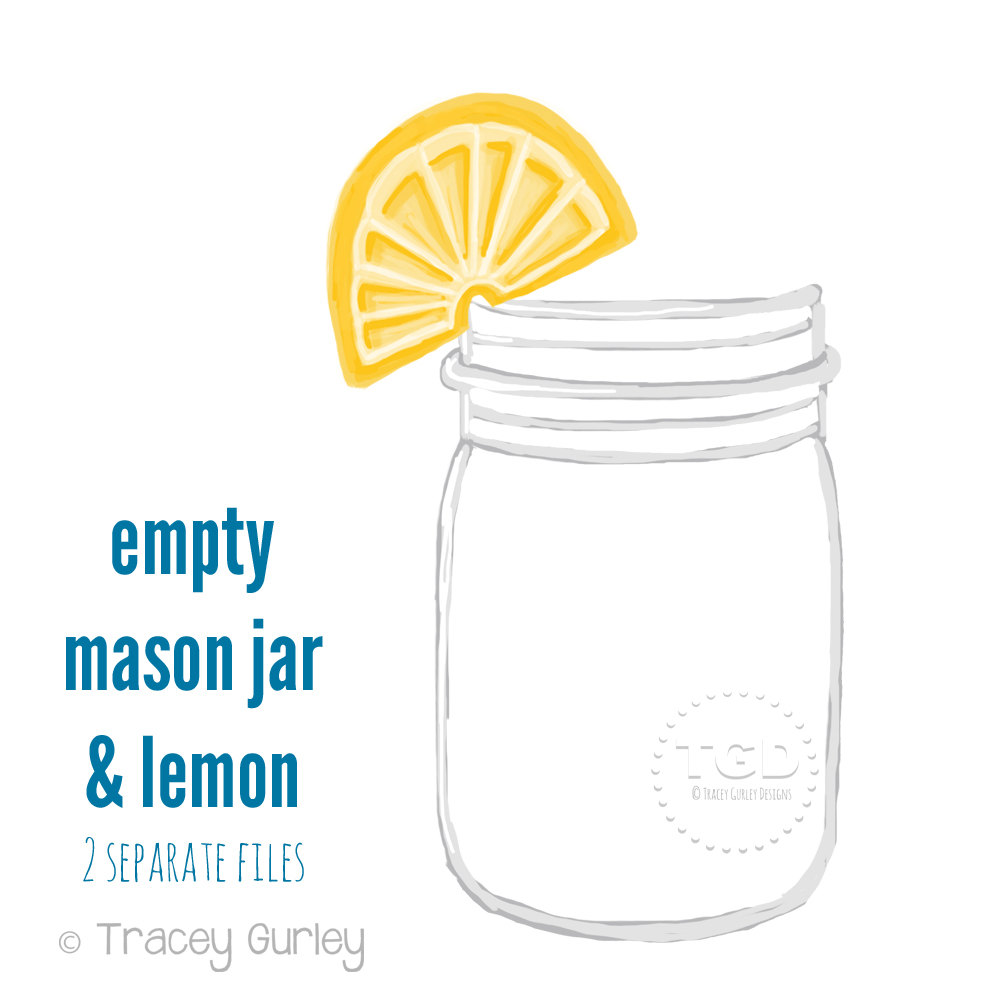Water Color clipart mason jar lemonade Mason jar Goods Clip Mason