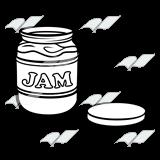 Jam clipart jar lid  off of Abeka of