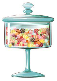 Candy Bar clipart jar sweet CookKitchen E CUPCAKE clipart JarsCandy