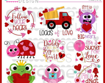 Lettering clipart bug Valentine Clipart Frog Love Love