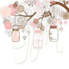 Jar clipart masson Drawn Hand Pinterest and for