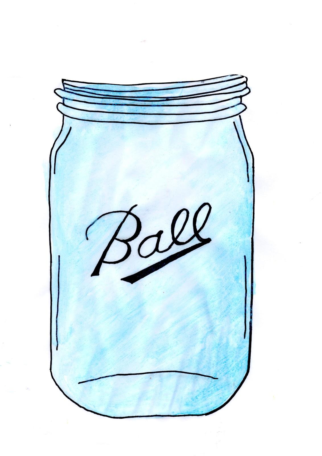 Turquoise clipart mason jar #2