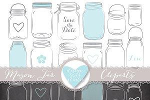 Mason Jar clipart rsvp Clip Creative Vector on jar