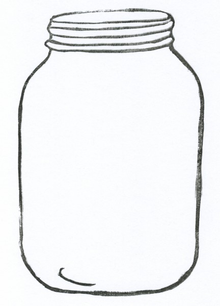 Jar clipart open jar Jar art clipart clipartfest outline