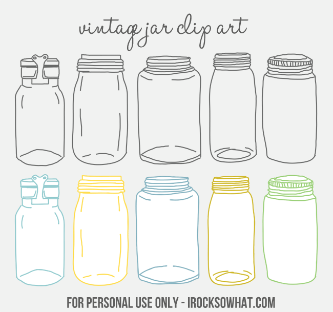 Mason Jar clipart glass jar Free by Creative IROCKSOWHAT Jar