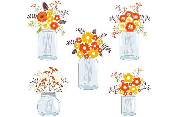 Jar clipart orange On Flowers Fall in Illustrations