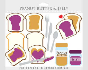 Jar clipart peanut butter and jelly Bread Peanut toast jelly clipart