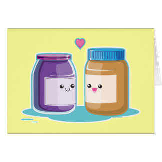 Jar clipart peanut butter and jelly Cards Peanut Peanut Jelly Card
