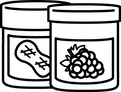 Jar clipart peanut butter and jelly Butter and Black Butter Peanut