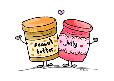 Jar clipart peanut butter and jelly Butter standing arms around [Image