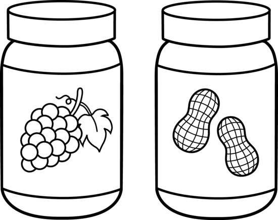 Jar clipart peanut butter and jelly Line Peanut Art Jelly Line
