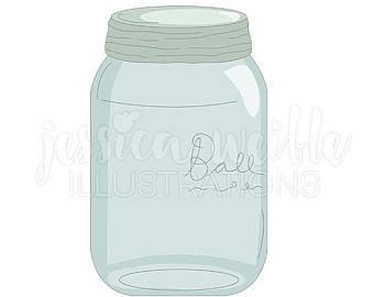 Jar clipart plastic container Art Etsy clip Glass Jar