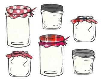 Jam clipart jar lid Homemade Etsy and Jar Jar