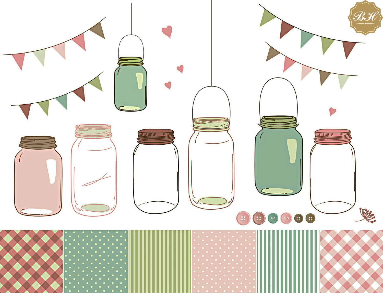 Mason Jar clipart glass jar This Clipart Jar Clip is