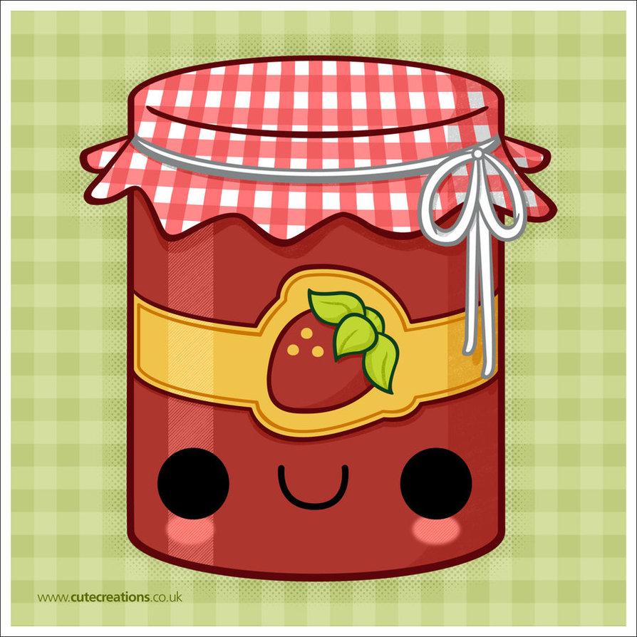 Jar clipart strawberry jam  Cute deviantART Strawberry Jam