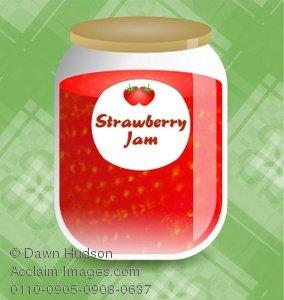 Jar clipart strawberry jam Jar Jam Illustration a of