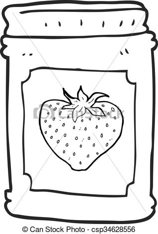 Jar clipart strawberry jelly White jar of cartoon Clipart