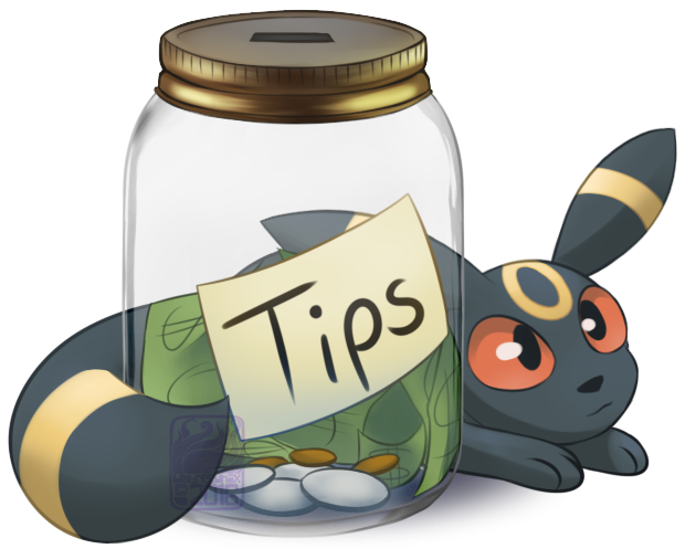 Jar clipart tip jar Tip on by Jar Umbreon