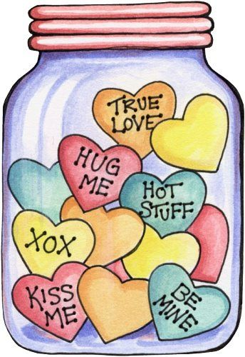 Jar clipart valentine Free Free card made could