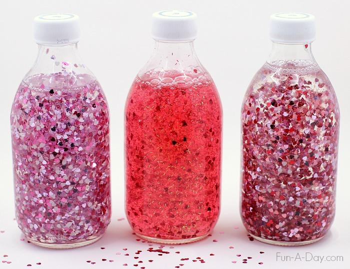 Jar clipart valentine Glitter Heart make two for