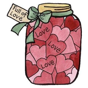 Jar clipart valentine Love on Digi best Pinterest